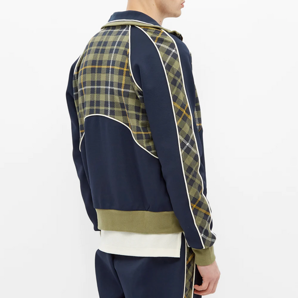 Fred Perry x Nicholas Daley Tartan Track Jacket - Shaded Navy
