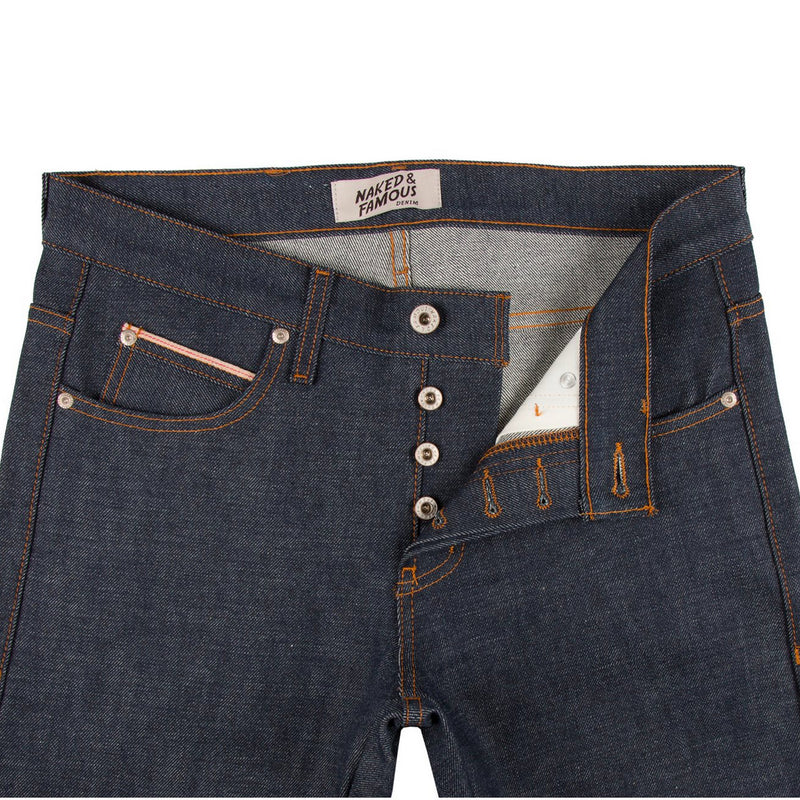 Naked & Famous Skinny Guy Dirty Fade Selvedge - Indigo
