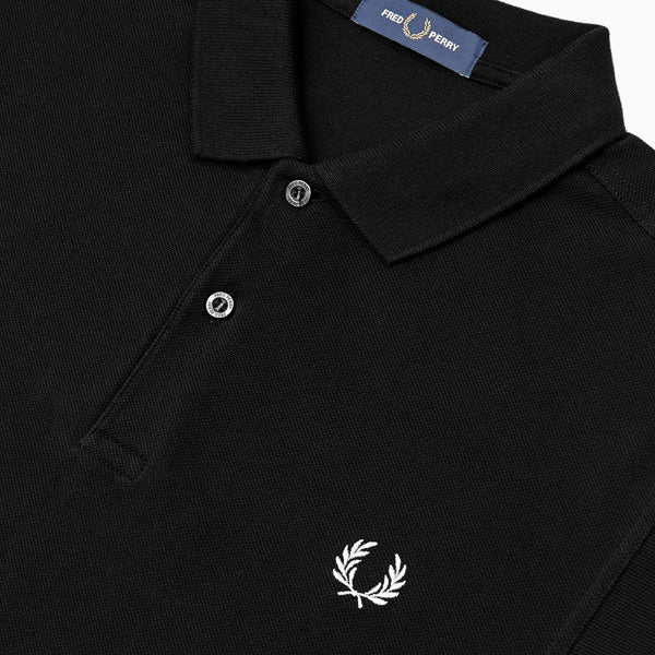 Fred Perry Made In England Slim Fit Polo Shirt - Black/Chrome