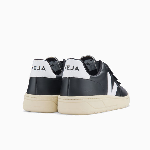 Veja V-Lock Leather - Black/White/Butter Sole