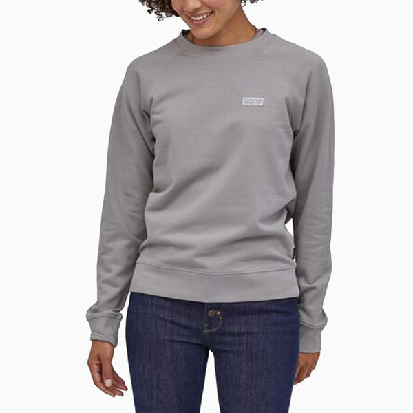 Patagonia Women's Pastel P-6 Label Organic Crew Sweatshirt - Salt Grey