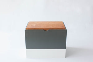 Lidded Oasis Box with Dividers (Charcoal/Stone)