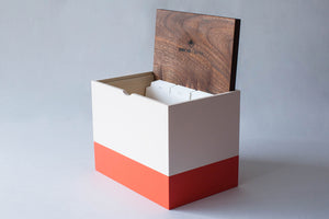 Hand-Built Lidded Organizer with Dividers (Light Pink/Coral)