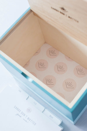 Lidded Oasis Box with Dividers (Aquamarine/Mint)