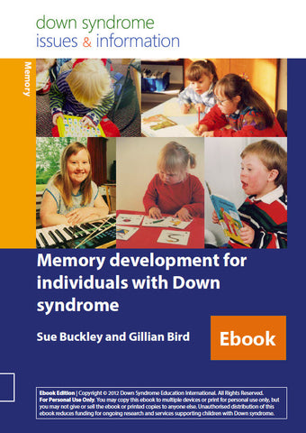 Memory Development for Individuals with Down Syndrome - PDF Ebook