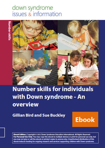 Number Skills for Individuals with Down Syndrome - An Overview - PDF Ebook