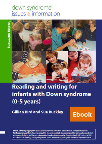 Reading and Writing Development for Infants with Down Syndrome (0-5 years) - PDF Ebook