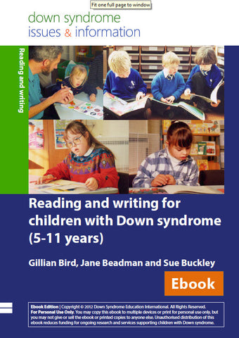 Reading and Writing Development for Children with Down Syndrome (5-11 years) - PDF Ebook
