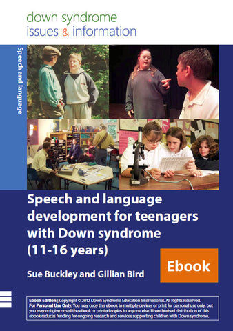 Speech and Language Development for Teenagers with Down Syndrome (11-16 years) - PDF Ebook