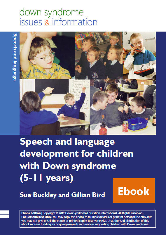 Speech and Language Development for Children with Down Syndrome (5-11 years) - PDF Ebook