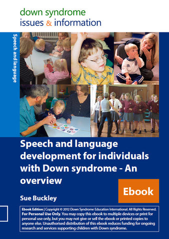 Speech and Language Development for Individuals with Down Syndrome - An Overview - PDF Ebook