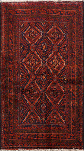 Geometric Baluchistan Rugs, Area Rug 3x5  One of a Kind