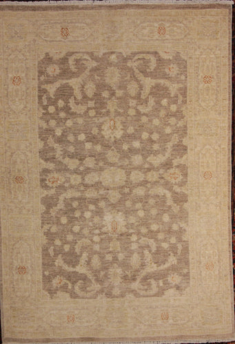 All-Over Floral Oushak Chobi Oriental Area Rug 5 x 7 One of a Kind