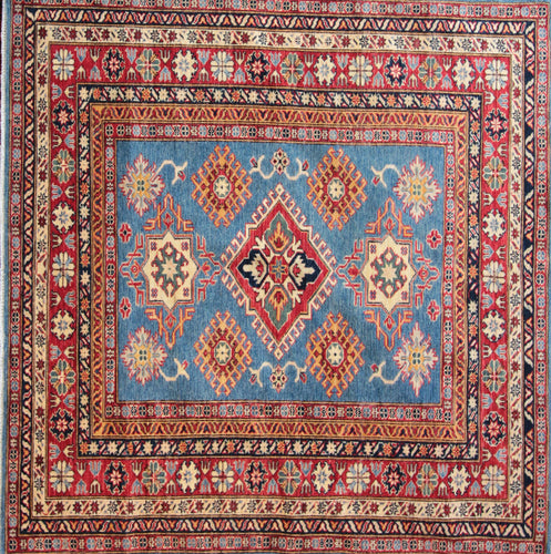 Geometric Kazak Oriental Area Rug Round & Square One of a Kind
