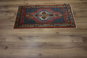 Geometric Authentic Oushak Turkish Area Rug, One of a Kind