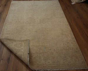 Muted  Distressed Oriental Area Rug 5 x 7 One of a Kind