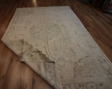 Load image into Gallery viewer, Muted  Oushak Turkish Area Rug 6 x 9 One of a Kind