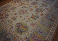 Load image into Gallery viewer, Floral Oushak Vegetable Dye Turkish Area Rug 9x12 One of a Kind