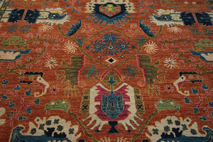 Vegetable Dye Ziegler Oriental Area Rug 8x10 One of a Kind
