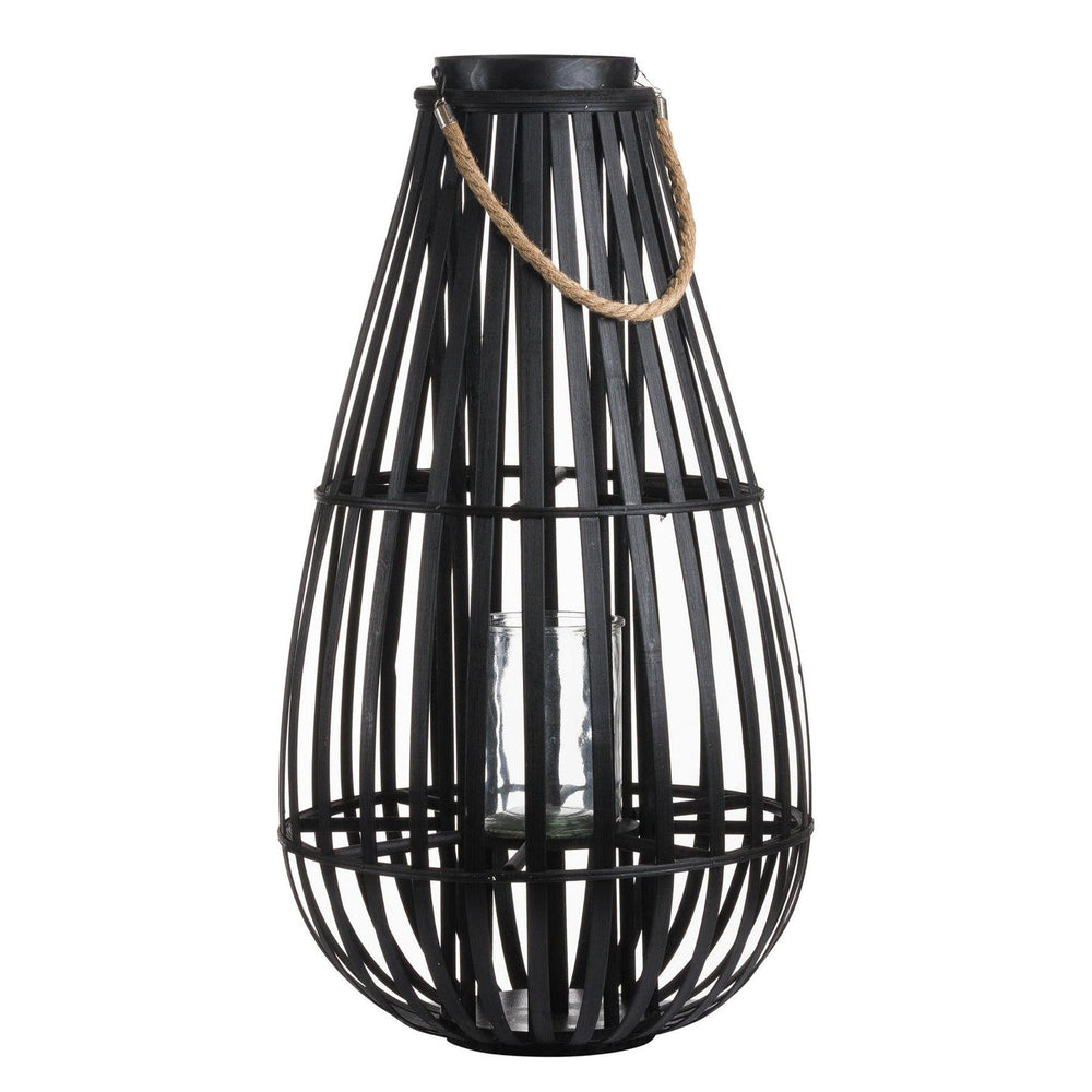 Load image into Gallery viewer, Large Floor Standing Domed Rattan Lantern - Maison Margot