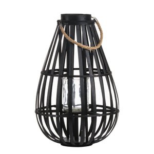 Floor Standing Domed Rattan Lantern - Maison Margot