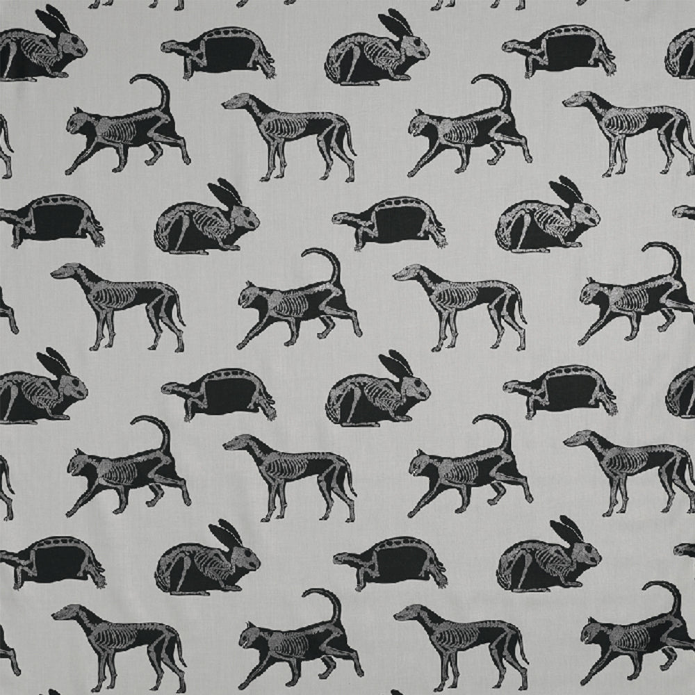 Load image into Gallery viewer, Animal Magic Grey and Black Glitter Fabric