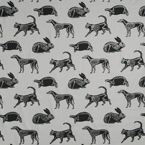 Animal Magic Grey and Black Glitter Fabric