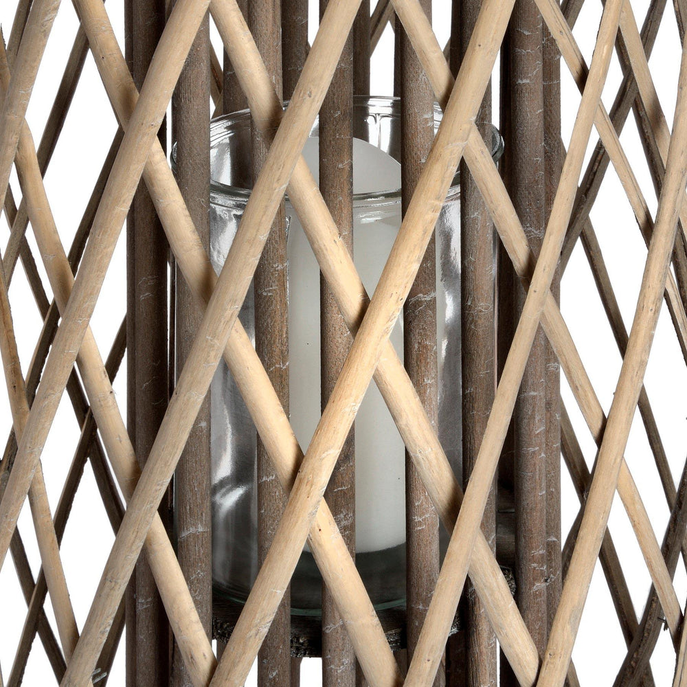 Load image into Gallery viewer, Large Standing Wicker Lantern - Maison Margot