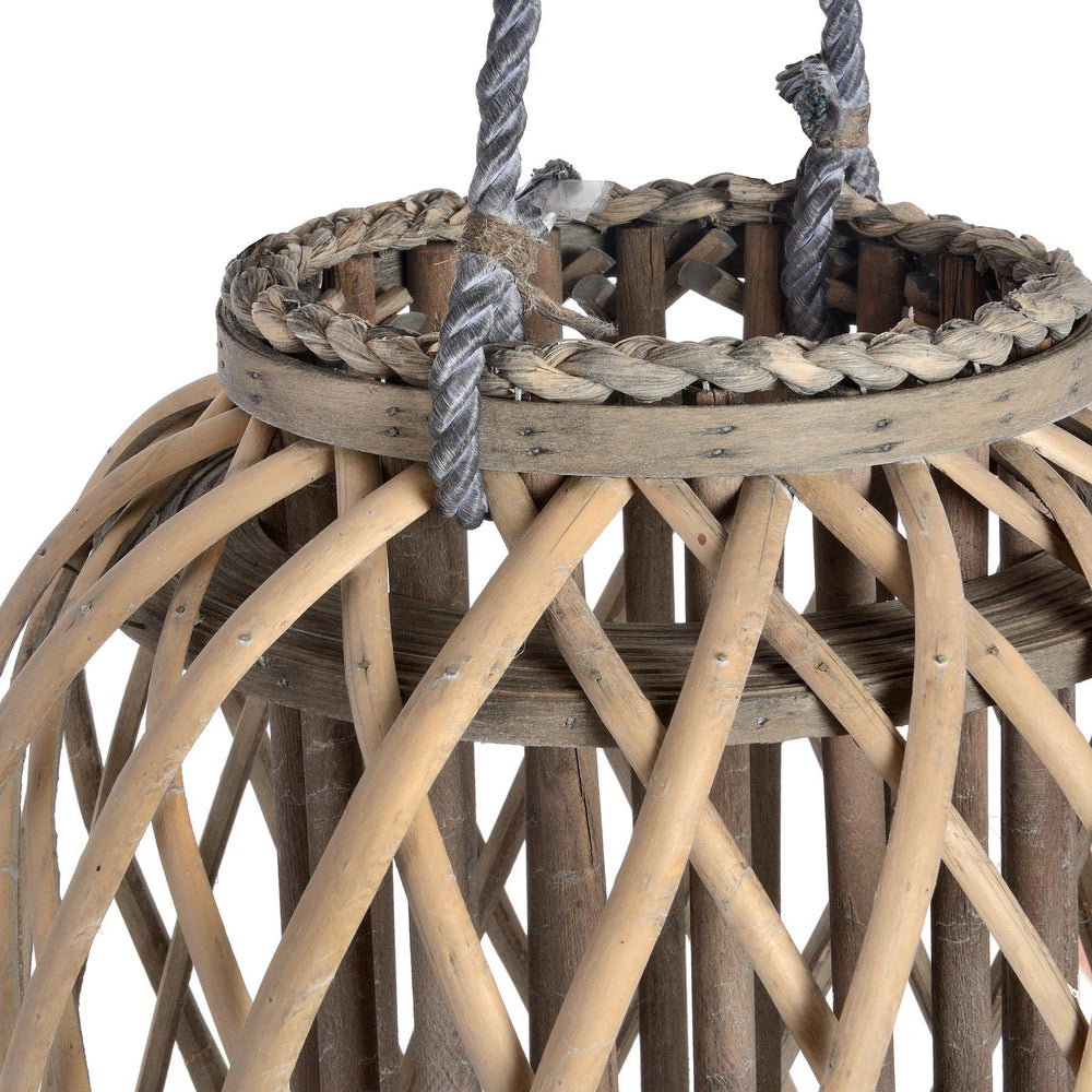 Large Standing Wicker Lantern - Maison Margot