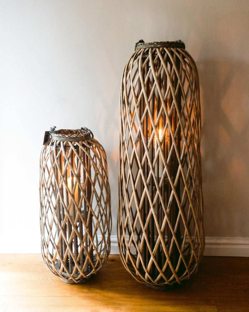 Huge Standing Wicker Lantern