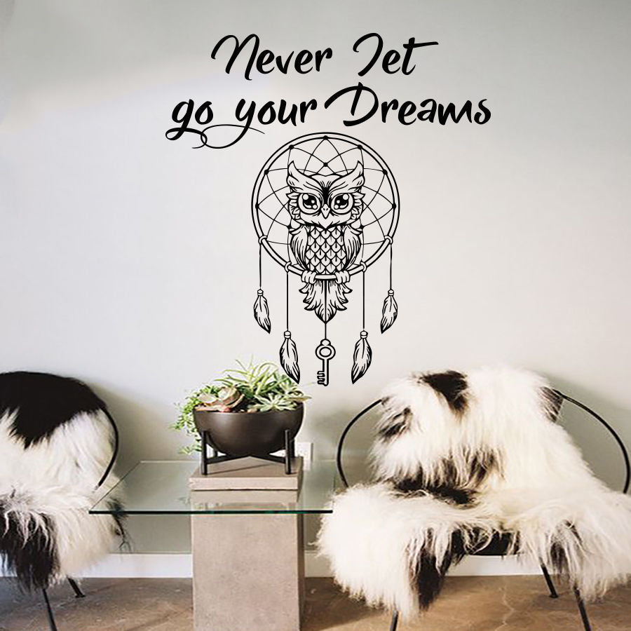 Owl Dream Catcher Wall Decal