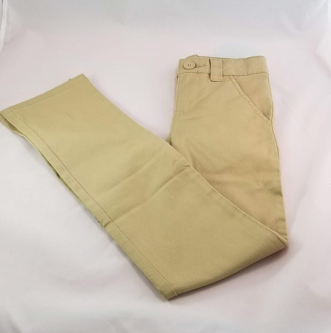 Girls khaki Slim Pants by Cherokee size 8 S