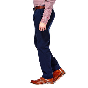 HAGGAR IN MOTION SUSTAINABLE STRETCH CHINO BLUE