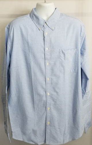 Merona Men's Classic Long Sleeved Button-down Shirt - Summer Blue XXLG