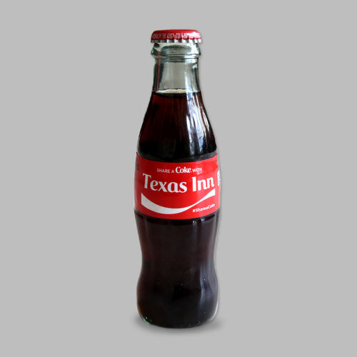 Custom Texas Inn Coke Bottle