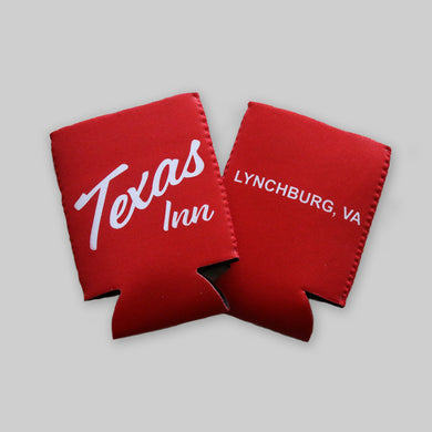 Texas Inn Beer Koozie