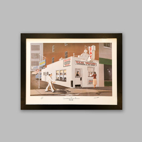 Framed Limited Edition Print - Texas Tavern Lynchburg
