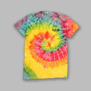 Front of RETRO Tie Dye Texas Inn T-Shirts