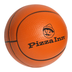 Mini Basketball Stress Reliever - Choice of Brown or Red