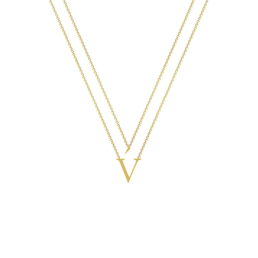 v gold necklace