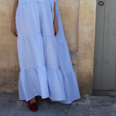 Barbara Dress Light Blue Gingham