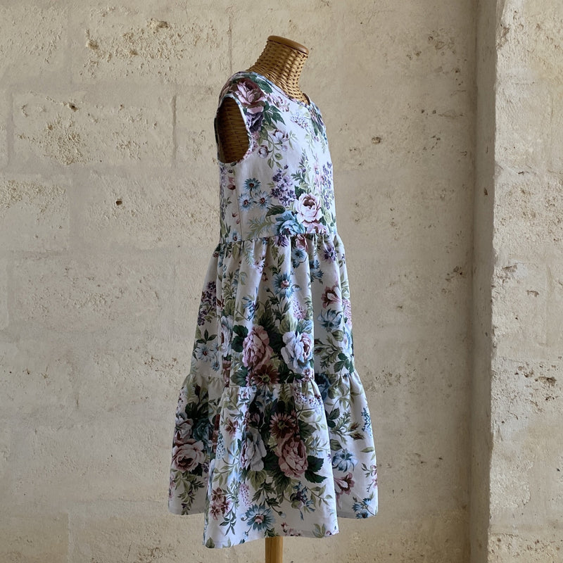 One of a kind - Barbara Short Dress Vintage Flowers