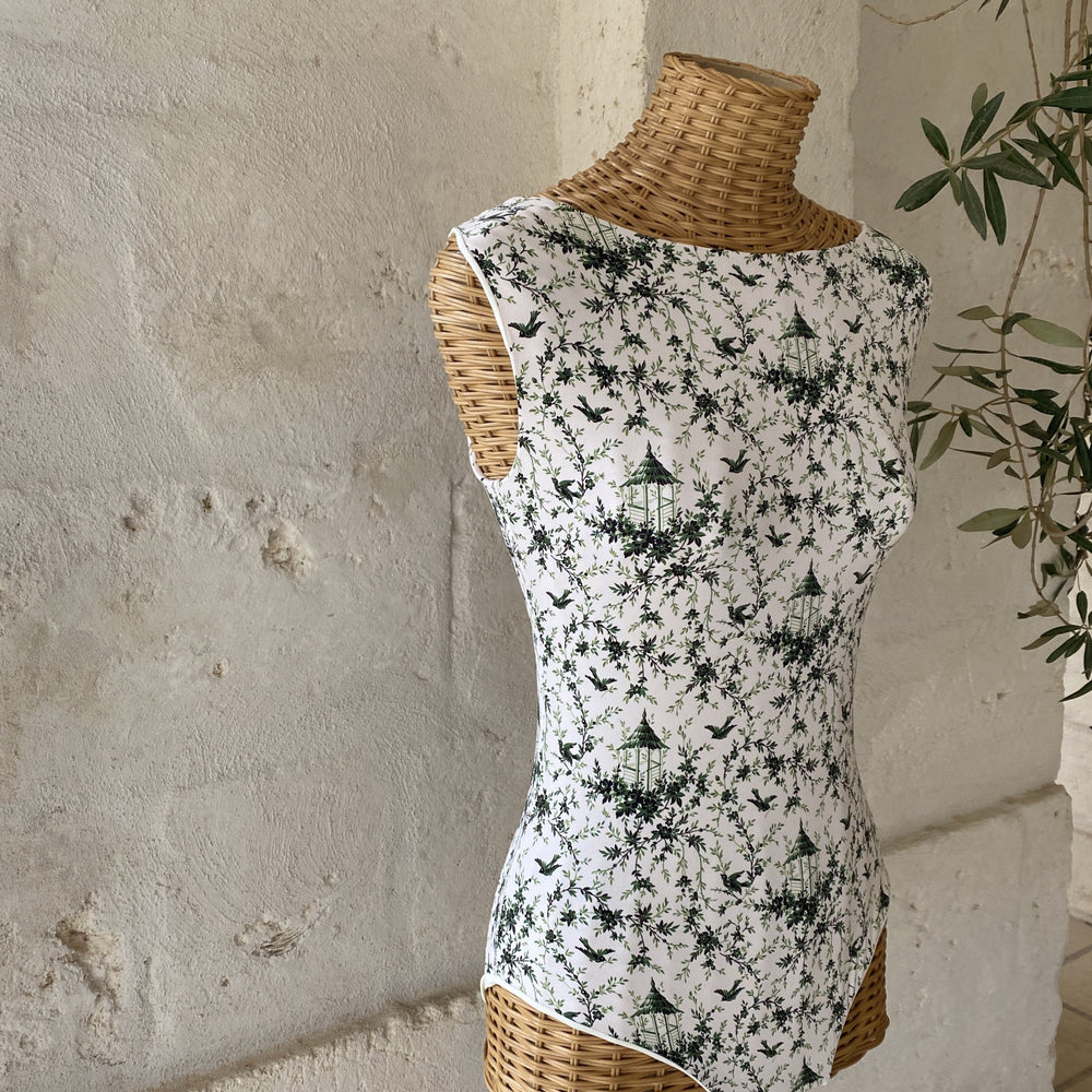 Noa in green toile de jouy x Bottega Egnazia
