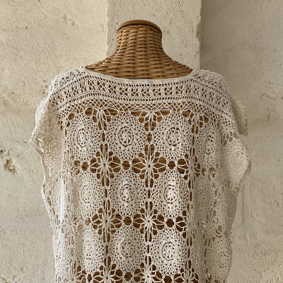 One of a Kind Vintage Crochet Dress
