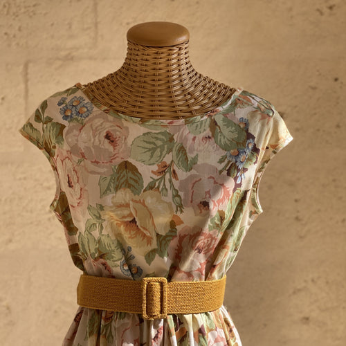 One of a Kind Barbara Dress Vintage Flowers