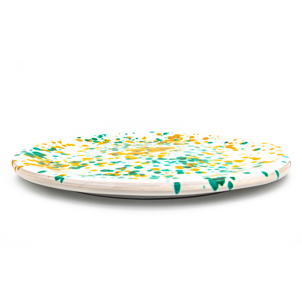 Pizza Set White, Green & Yellow