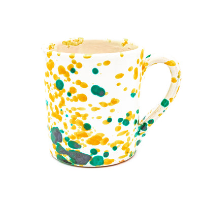 Mug White, Green & Yellow