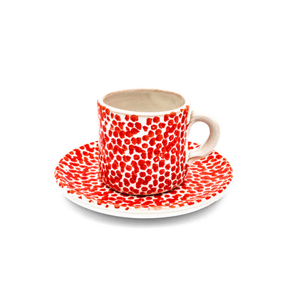 Breakfast Set White & Red