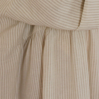 Barbara Dress Stripe White & Beige