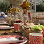 Ceramic Table Set White & Red